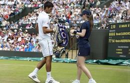 Wimbledon 2015: Djokovic lên tiếng xin lỗi cô gái nhặt bóng