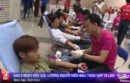 Sau 5 ngày kêu gọi, lượng người hiến máu tăng gấp 10 lần