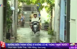 Không mưa, đường vẫn ngập nước tại TP.HCM