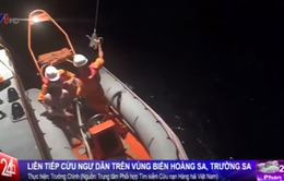 Liên tiếp cứu ngư dân trên vùng biển Hoàng Sa, Trường Sa