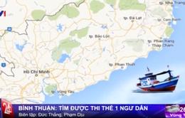 Tìm thấy thi thể 1 ngư dân trong vụ chìm tàu cá BV 95568 TS
