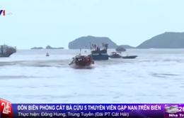 Đồn Biên phòng Cát Bà giải cứu 5 thuyền viên gặp nạn trên biển