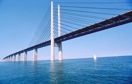"""Độc đáo cây cầu """"đâm đầu xuống biển"""""""