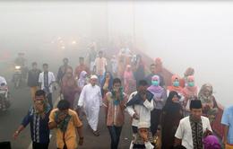 Khói bụi lan rộng, Indonesia sơ tán gia đình có con nhỏ