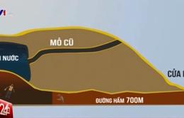 Mô hình đồ họa hiện trường vụ sập hầm than ở Hòa Bình