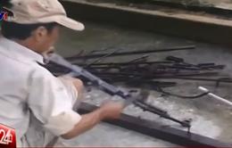 Tiêu hủy hàng loạt vũ khí trái phép tại Quảng Ngãi
