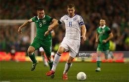Jonathan Walters tỏa sáng, CH Ireland giành vé đến Pháp dự Euro