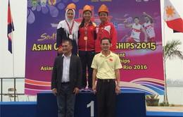 VĐV 16 tuổi Trương Thị Phương giành HCV tại giải Canoeing châu Á