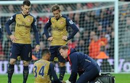 Francis Coquelin nghỉ hết năm 2015, Arsenal khủng hoảng lực lượng nặng nề