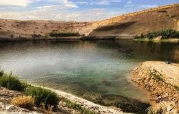 Hồ nước bí ẩn xuất hiện giữa sa mạc sau một đêm