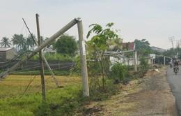 Đăk Lăk: Mưa, gió lớn làm gãy đổ nhiều cột điện cao thế