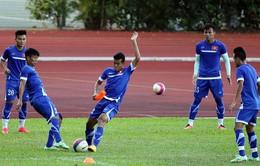 U23 Việt Nam tập kín chọn đội hình đấu U23 Malaysia
