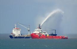 Cháy tàu hàng nước ngoài, 3 thuyền viên Việt Nam an toàn