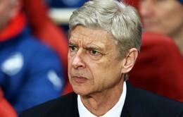 Arsene Wenger muối mặt vì thất bại xấu hổ của Arsenal