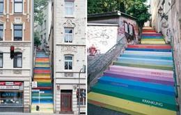 """Những cầu thang """"biến hóa"""" thành tác phẩm nghệ thuật"""