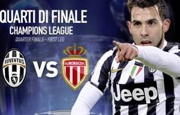 Juventus – Monaco: Khi nguồn cảm hứng Tevez trở lại (1h45,15/4-K+PM)