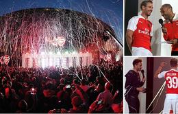 Arsenal rầm rộ ra mắt áo đấu mùa giải 2015/16