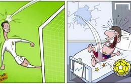 Biếm họa bóng đá: Ronaldo không biết ghi bàn, Messi nằm viện dài hạn