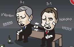 Biếm họa bóng đá: Mourinho, Rodgers tàn tạ sau những thảm bại