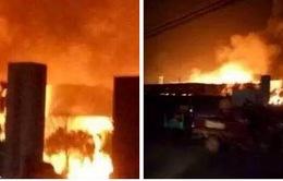 Hình ảnh về vụ nổ nhà máy hóa chất tại Sơn Đông, Trung Quốc
