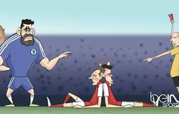 """Biếm họa bóng đá: Diego Costa """"vừa ăn cắp vừa la làng"""""""