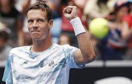 Berdych tiết lộ bí quyết đánh bại Nadal tại tứ kết Úc mở rộng 2015
