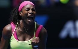 Úc mở rộng 2015: Thắng chóng vánh, Serena tiến thẳng vào bán kết