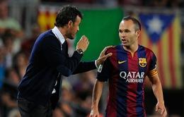 """Iniesta: Luis Enrique là """"ngọn hải đăng"""" của Barcelona"""