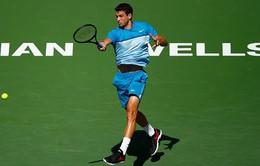 """Indian Wells 2015: """"Tiểu Federer"""" Dimitrov nhọc nhằn giành vé đi tiếp"""
