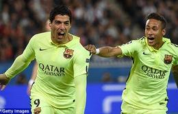 """Chấm điểm đại chiến PSG - Barcelona: Suarez """"tắt điện"""" kinh đô ánh sáng"""