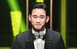 Kim Soo Hyun khóc nấc khi giật giải tại Korea Drama Awards