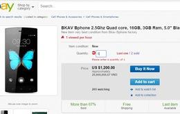 Bphone được bán trên eBay Nhật với giá 1.200 USD