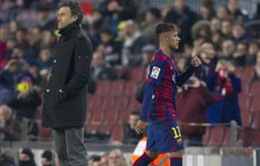 """Sóng ngầm"" ở Barca: Học Messi, Neymar giận dỗi Luis Enrique"
