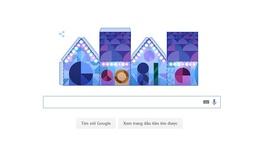 Google chào mừng lễ Giáng sinh với những căn nhà giấy và hình nền rực rỡ