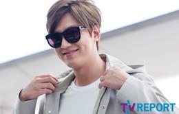 Lee Min Ho lộ mặt bầu bĩnh và tóc vàng hoe