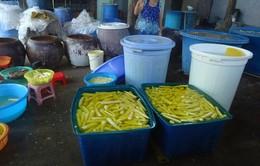 Bình Thuận: Bắt quả tang cơ sở sản xuất măng ngâm hóa chất công nghiệp