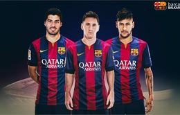 Neymar bị quai bị, tam tấu Barca chưa thể tái hợp