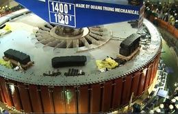 Lắp đặt rotor tổ máy số 1 Nhà máy thủy điện Lai Châu
