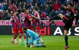 """Bayern Munich """"hủy diệt"""" Hamburg 8 bàn không gỡ"""