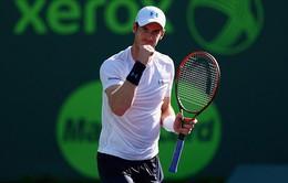 Miami Open 2015: Andy Murray nhọc nhằn vào bán kết
