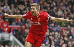 """Liverpool 2-1 QPR: """"Tội đồ"""" Gerrard vụt sáng thành người hùng"""