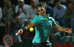 Rome Masters 2015: Roger Federer vào vòng 3, Tsonga bị loại