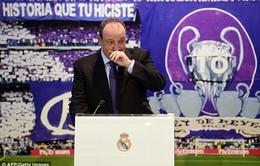 """Rafa Benitez khóc """"như mưa"""" trong ngày ra mắt Real Madrid"""