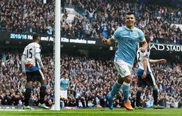"""Lập cú """"penta"""" trong 20 phút, Aguero đi vào lịch sử Premier League"""