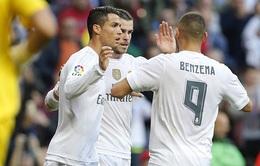 Bộ ba nguyên tử B-B-C hồi sinh, Real Madrid thắng dễ người hàng xóm
