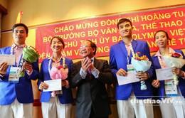 Bộ trưởng Hoàng Tuấn Anh động viên các VĐV Việt Nam dự SEA Games 28
