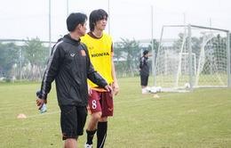 Tuấn Anh tái phát chấn thương đầu gối, bỏ dở buổi tập của U23 Việt Mam