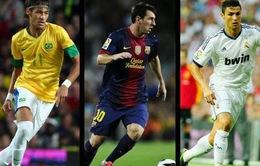 Ở tuổi 23, Neymar xuất sắc hơn cả Messi và Ronaldo