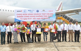 Cảng Hàng không Thọ Xuân đón hành khách thứ 330.000
