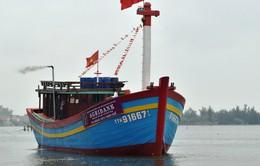 Hạ thủy tàu cá đầu tiên vay vốn theo nghị định 67